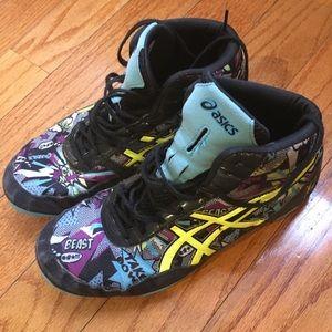 ASICS J501 Q Wrestling shoes size 8 Men's